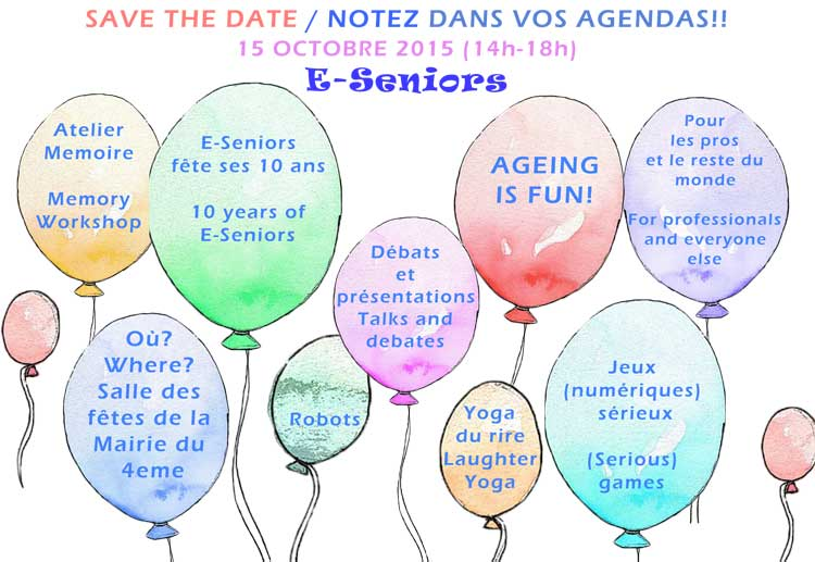 Save the date E-seniors fete ses 10 ans le 15 Octobre 2015